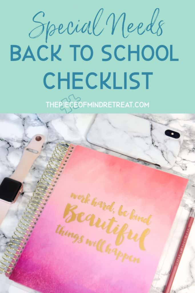 special needs back to school checklist